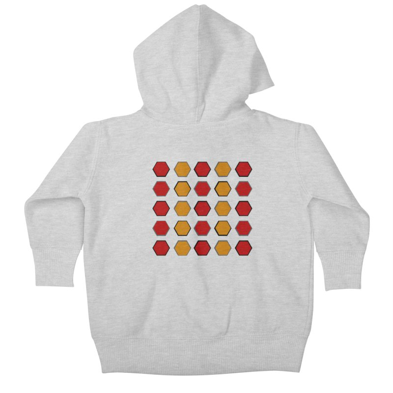 Red and Gold Pattern Design Kids Baby Zip-Up Hoody by 8010az's Shop