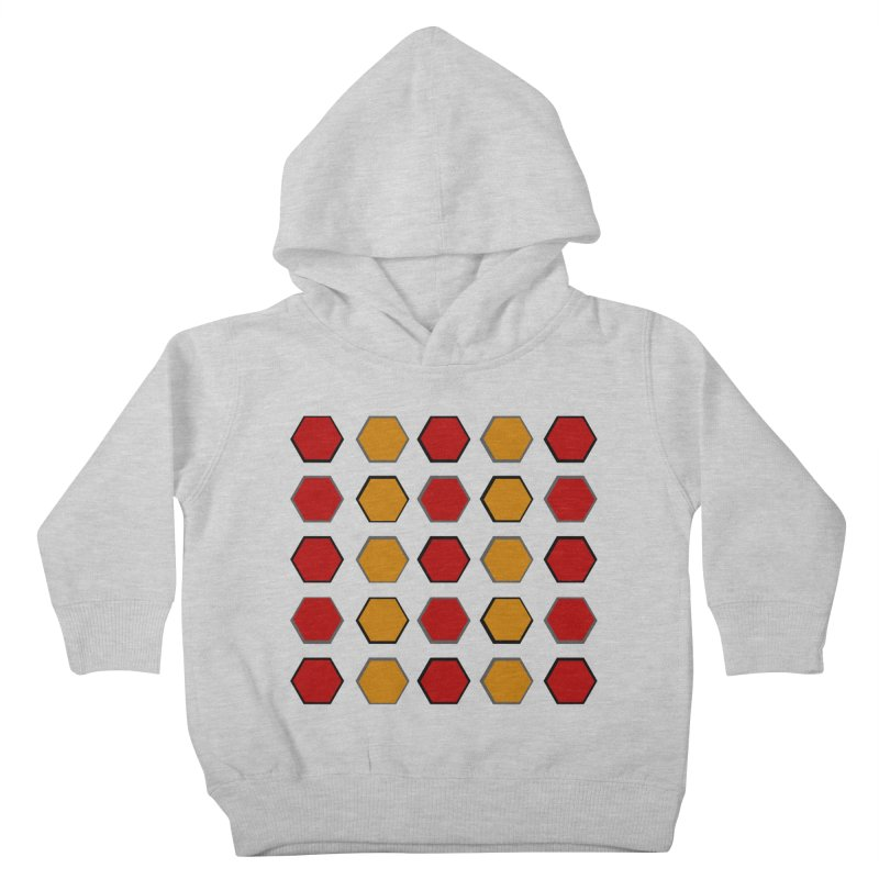 Red and Gold Pattern Design Kids Toddler Pullover Hoody by 8010az's Shop