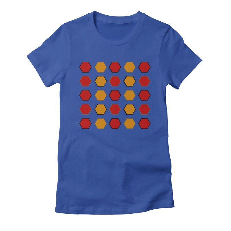 Red and Gold Pattern Design Women's Fitted T-Shirt by 8010az's Shop
