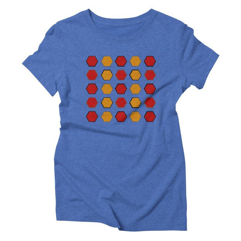Red and Gold Pattern Design Women's Triblend T-Shirt by 8010az's Shop