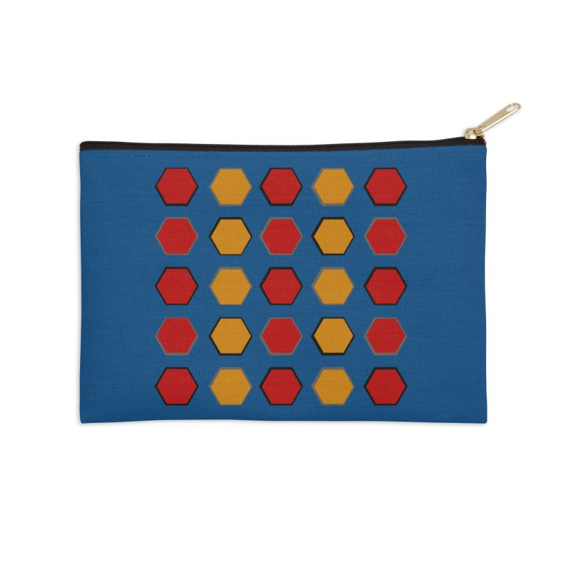 Red and Gold Pattern Design Accessories Zip Pouch by 8010az's Shop
