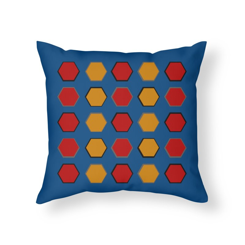Red and Gold Pattern Design Home Throw Pillow by 8010az's Shop