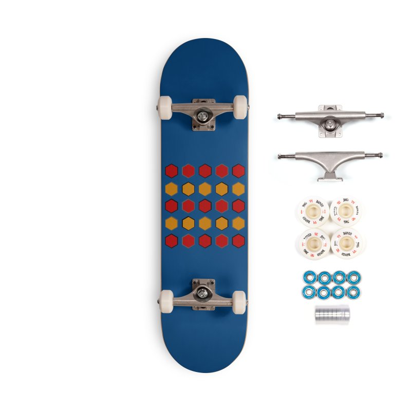 Red and Gold Pattern Design Accessories Complete - Premium Skateboard by 8010az's Shop