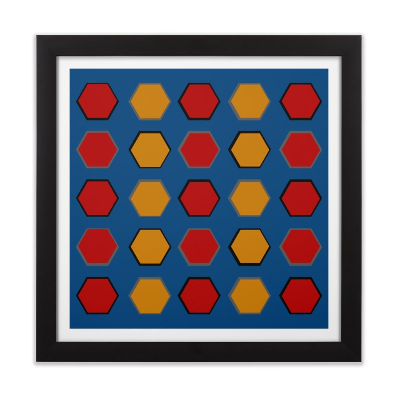 Red and Gold Pattern Design Home Framed Fine Art Print by 8010az's Shop