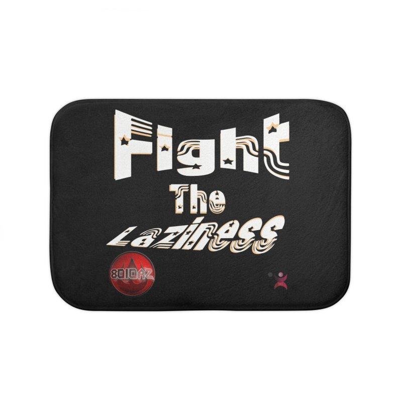 Fight The Laziness - FireHawk Fitness Home Bath Mat by 8010az's Shop