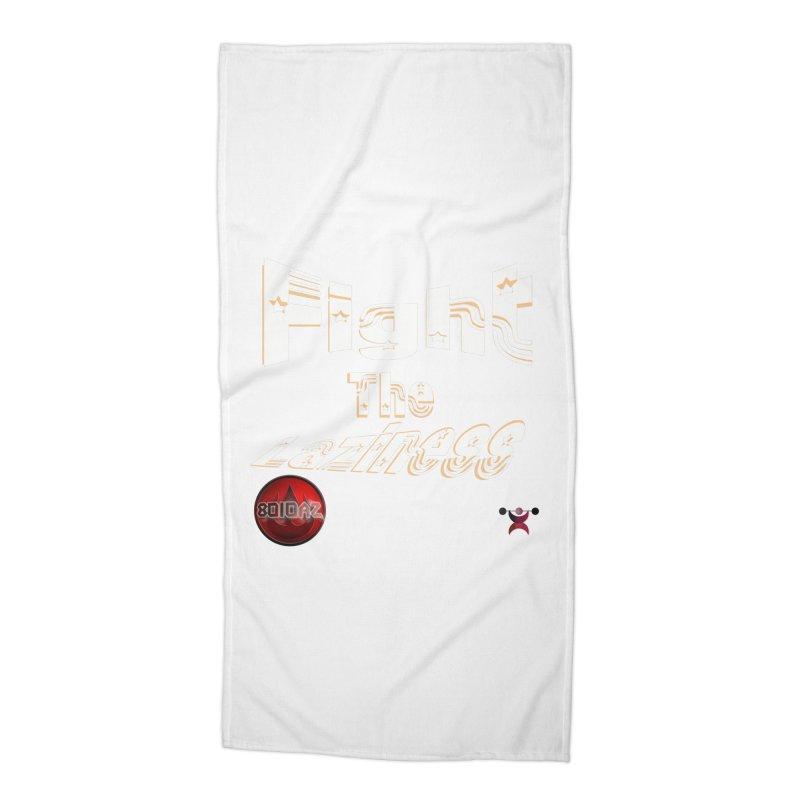Fight The Laziness - FireHawk Fitness Accessories Beach Towel by 8010az's Shop