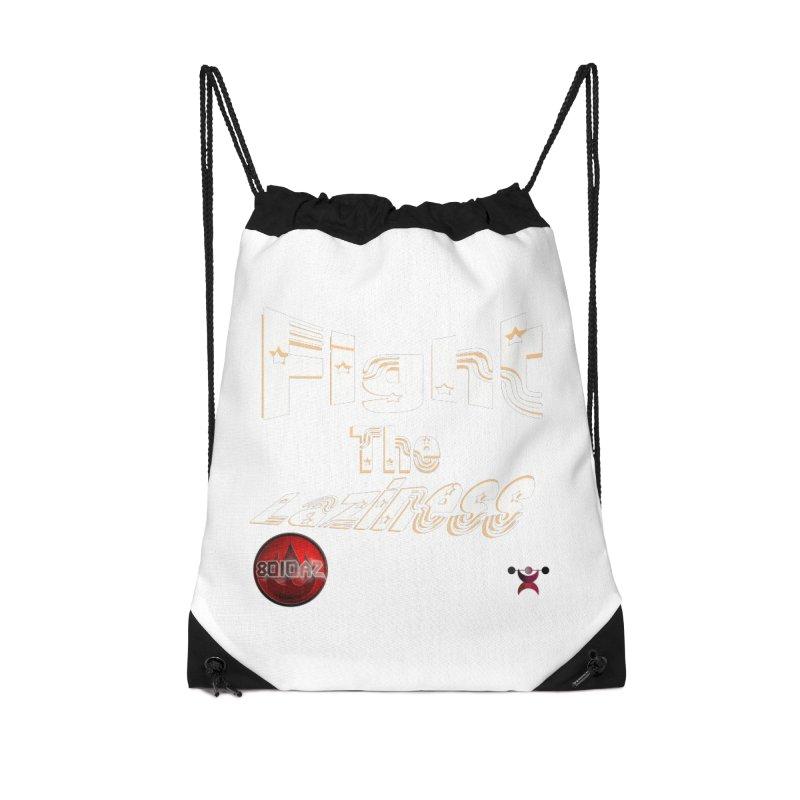 Fight The Laziness - FireHawk Fitness Accessories Drawstring Bag Bag by 8010az's Shop