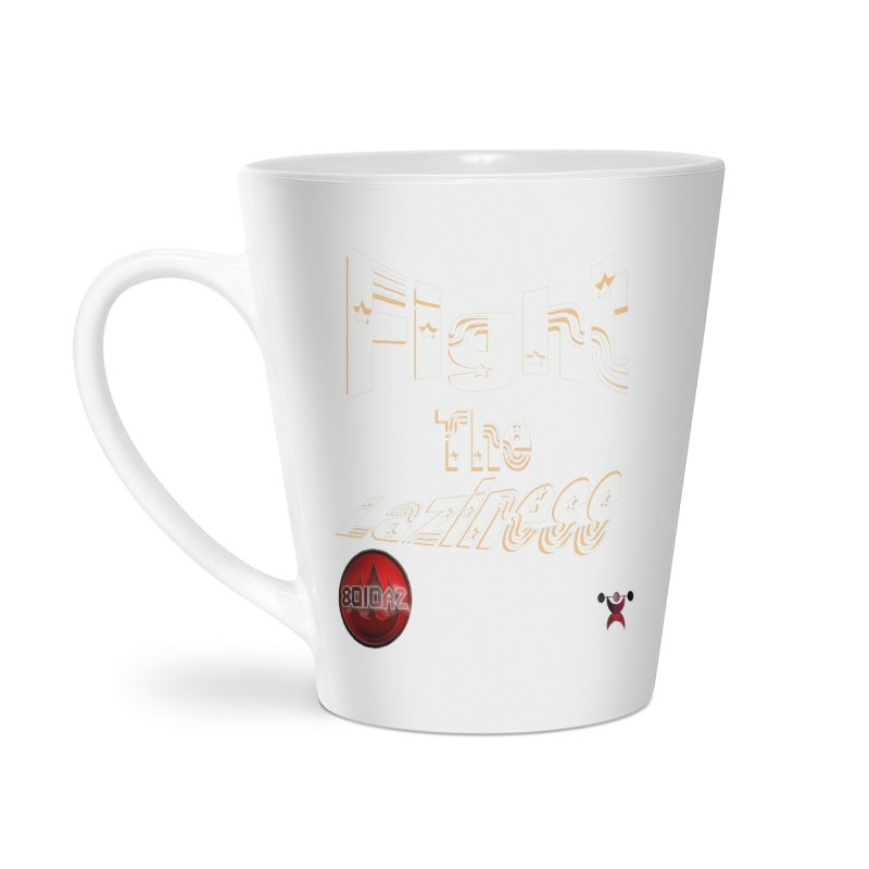 Fight The Laziness - FireHawk Fitness Accessories Latte Mug by 8010az's Shop