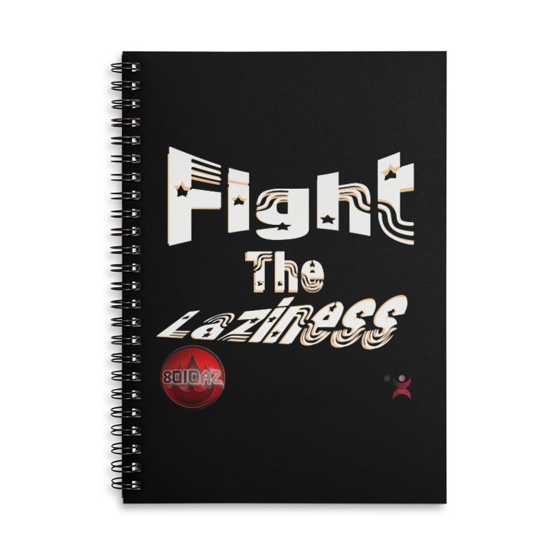 Fight The Laziness - FireHawk Fitness Accessories Lined Spiral Notebook by 8010az's Shop