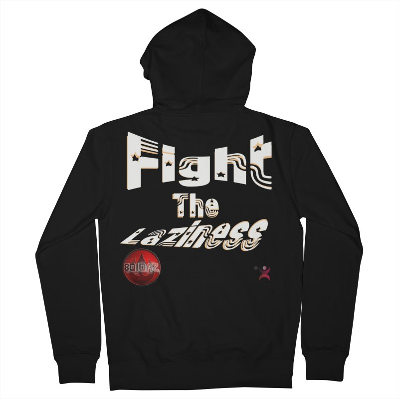Fight The Laziness - FireHawk Fitness Women's French Terry Zip-Up Hoody by 8010az's Shop