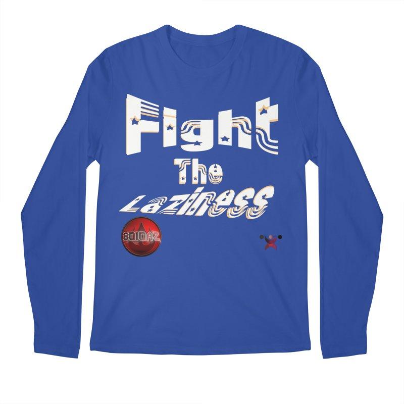 Fight The Laziness - FireHawk Fitness Men's Regular Longsleeve T-Shirt by 8010az's Shop
