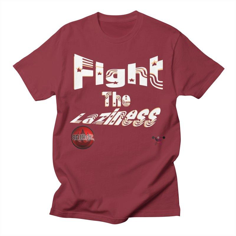 Fight The Laziness - FireHawk Fitness Men's Regular T-Shirt by 8010az's Shop
