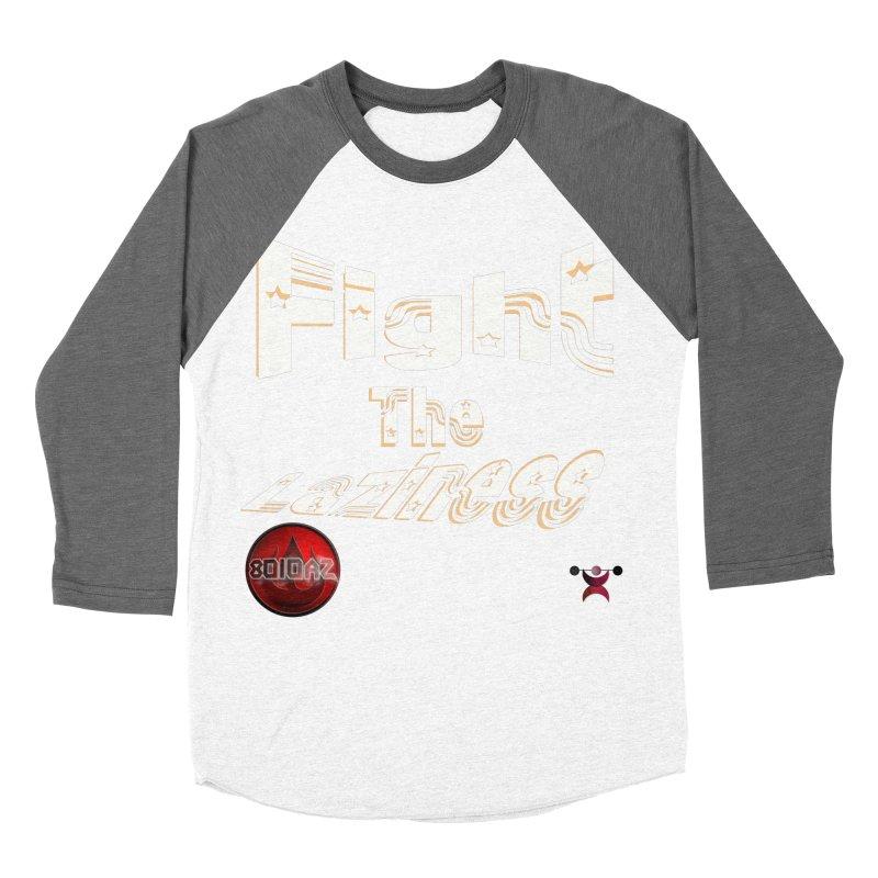 Fight The Laziness - FireHawk Fitness Men's Baseball Triblend Longsleeve T-Shirt by 8010az's Shop