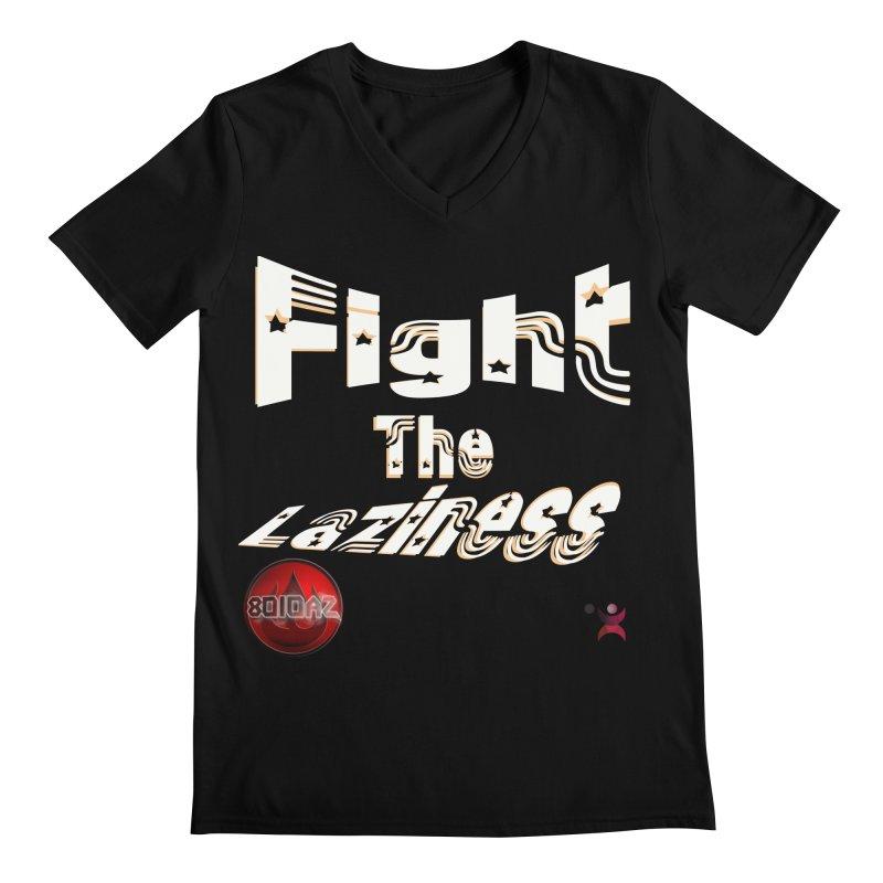 Fight The Laziness - FireHawk Fitness Men's Regular V-Neck by 8010az's Shop