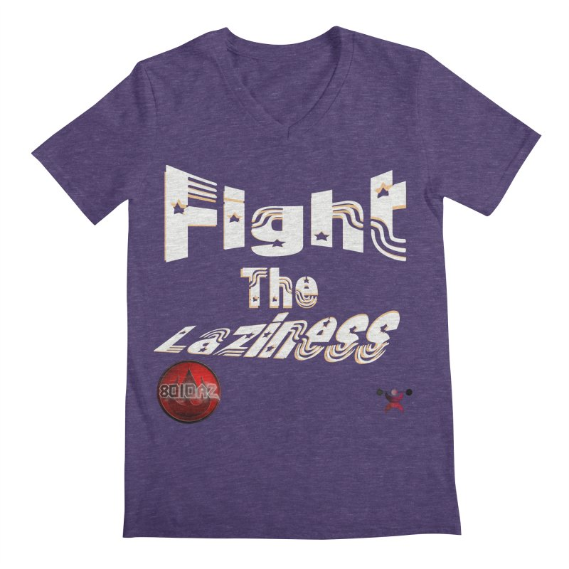 Fight The Laziness - FireHawk Fitness Men's Regular V-Neck by 8010az's Shop