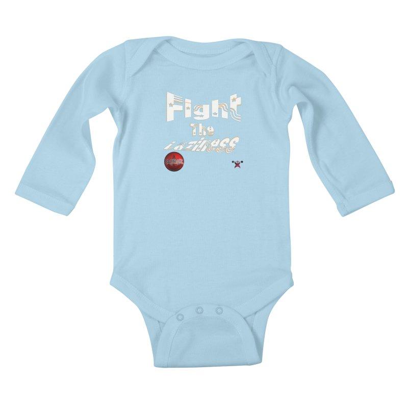 Fight The Laziness - FireHawk Fitness Kids Baby Longsleeve Bodysuit by 8010az's Shop