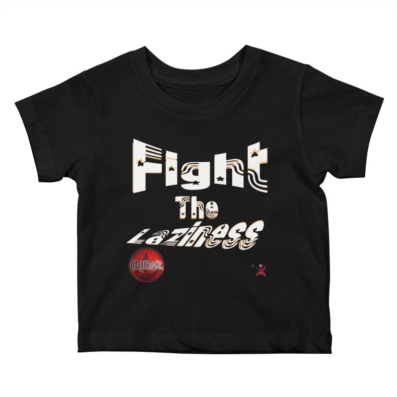 Fight The Laziness - FireHawk Fitness Kids Baby T-Shirt by 8010az's Shop