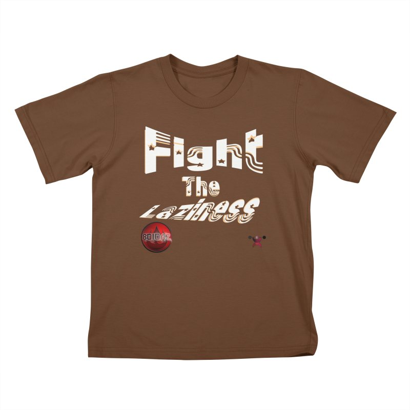 Fight The Laziness - FireHawk Fitness Kids T-Shirt by 8010az's Shop