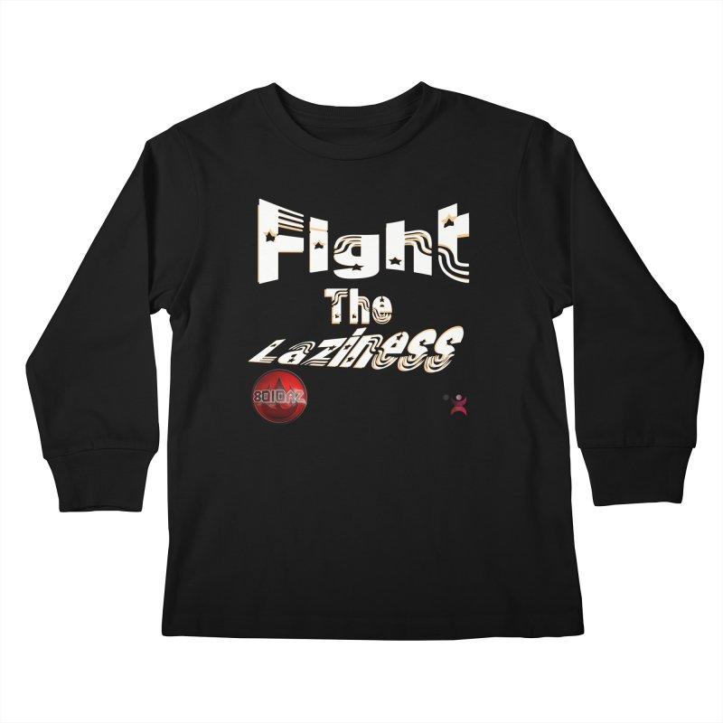 Fight The Laziness - FireHawk Fitness Kids Longsleeve T-Shirt by 8010az's Shop