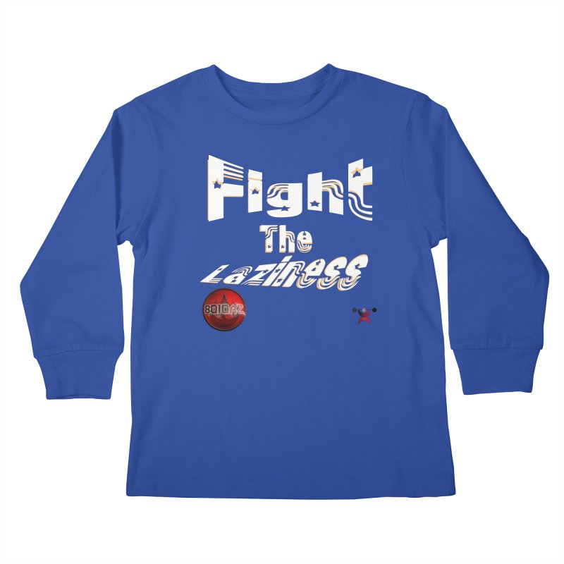 Fight The Laziness - FireHawk Fitness Kids Longsleeve T-Shirt by 8010az's Shop