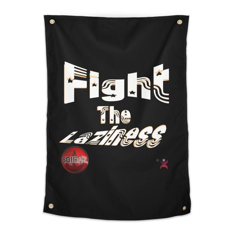 Fight The Laziness - FireHawk Fitness Home Tapestry by 8010az's Shop