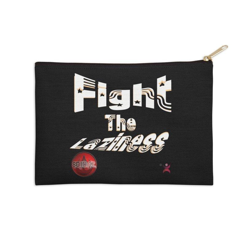 Fight The Laziness - FireHawk Fitness Accessories Zip Pouch by 8010az's Shop