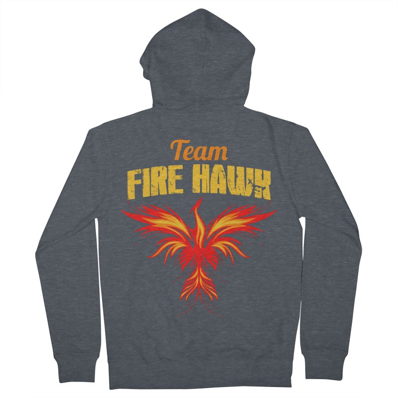 team fire hawk Women's French Terry Zip-Up Hoody by 8010az's Shop