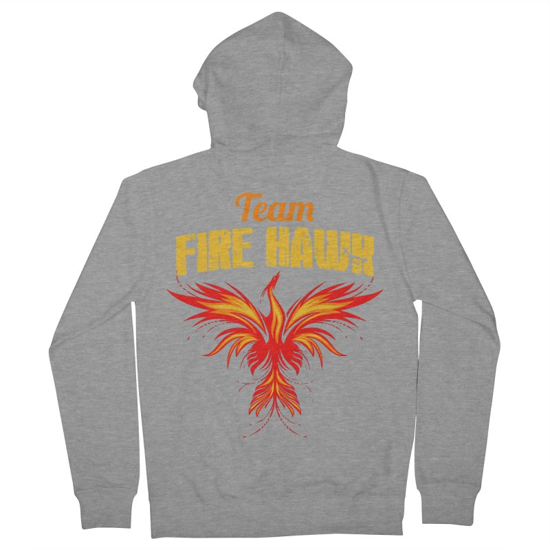 team fire hawk Women's French Terry Zip-Up Hoody by 8010az's Shop