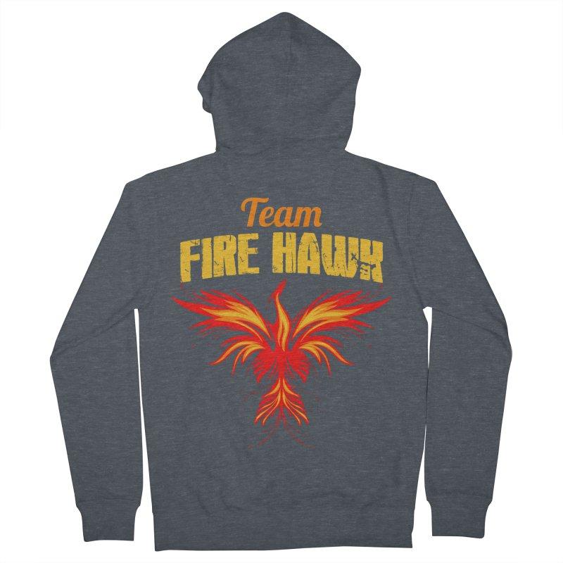 team fire hawk Men's French Terry Zip-Up Hoody by 8010az's Shop