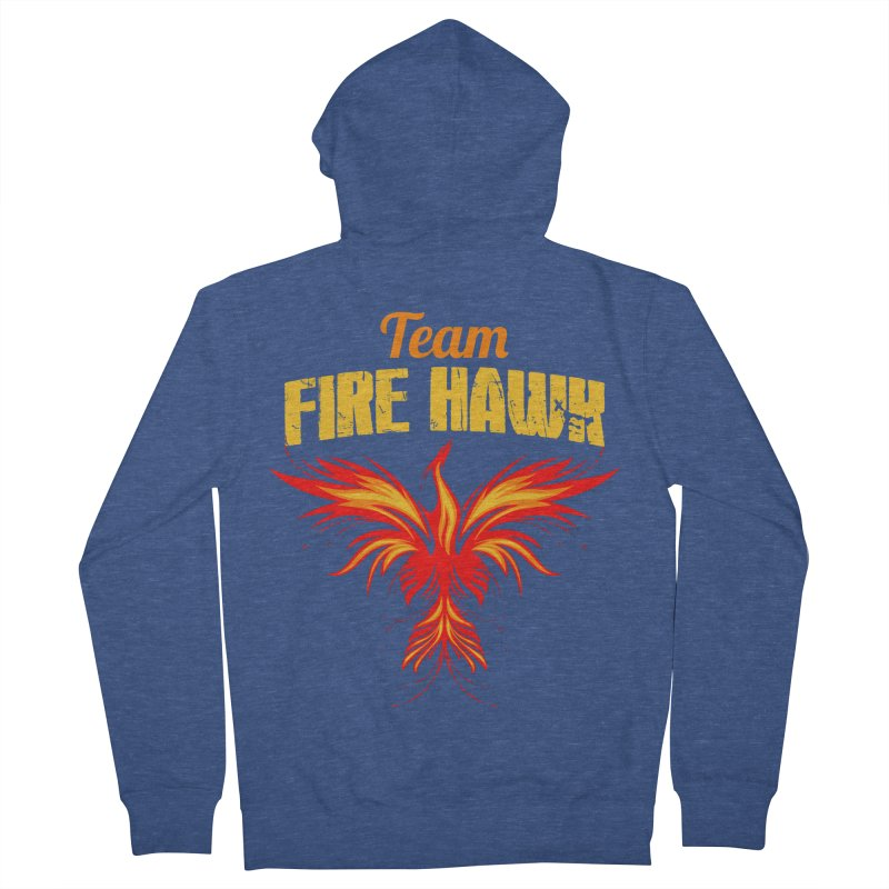 team fire hawk Men's French Terry Zip-Up Hoody by 8010az's Shop