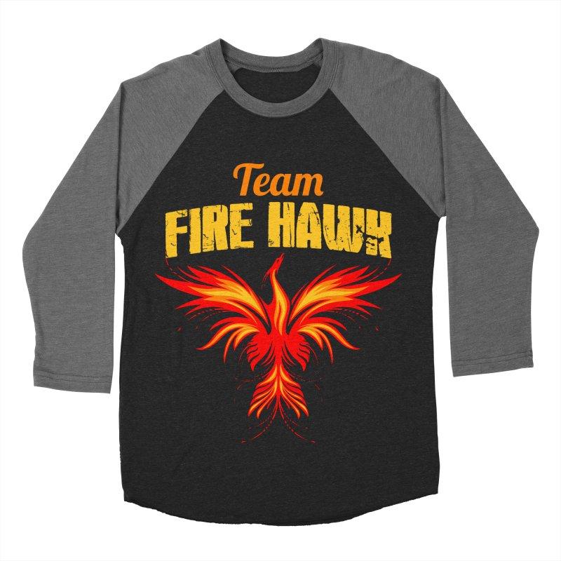 team fire hawk Men's Baseball Triblend Longsleeve T-Shirt by 8010az's Shop
