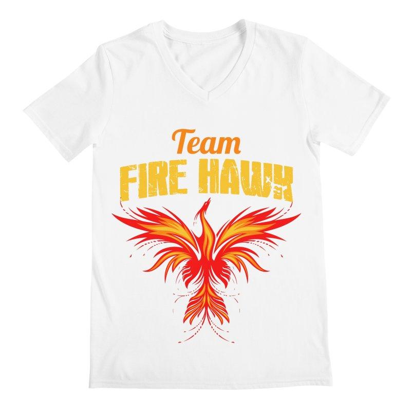 team fire hawk Men's Regular V-Neck by 8010az's Shop