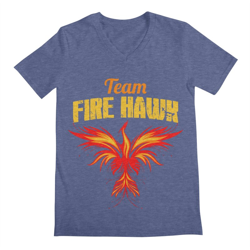 team fire hawk Men's Regular V-Neck by 8010az's Shop