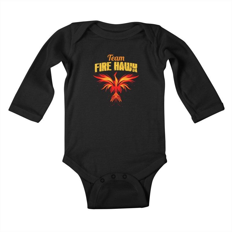 team fire hawk Kids Baby Longsleeve Bodysuit by 8010az's Shop