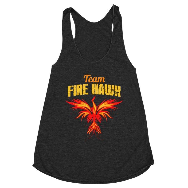 team fire hawk Women's Racerback Triblend Tank by 8010az's Shop