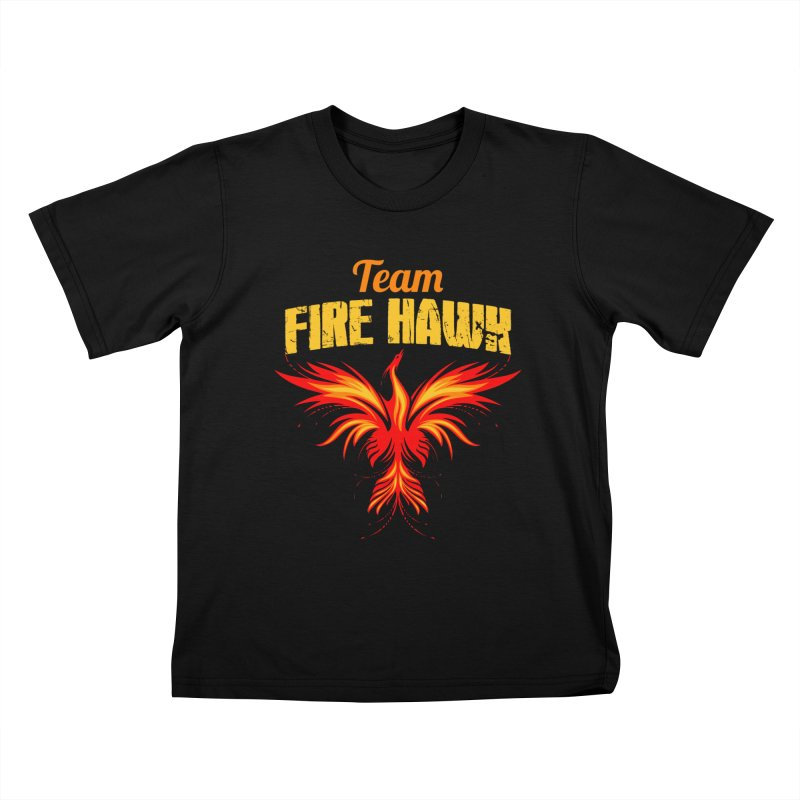 team fire hawk Kids T-Shirt by 8010az's Shop
