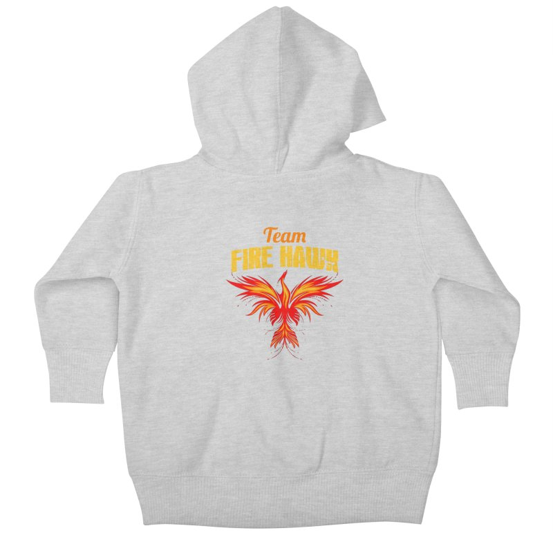 team fire hawk Kids Baby Zip-Up Hoody by 8010az's Shop