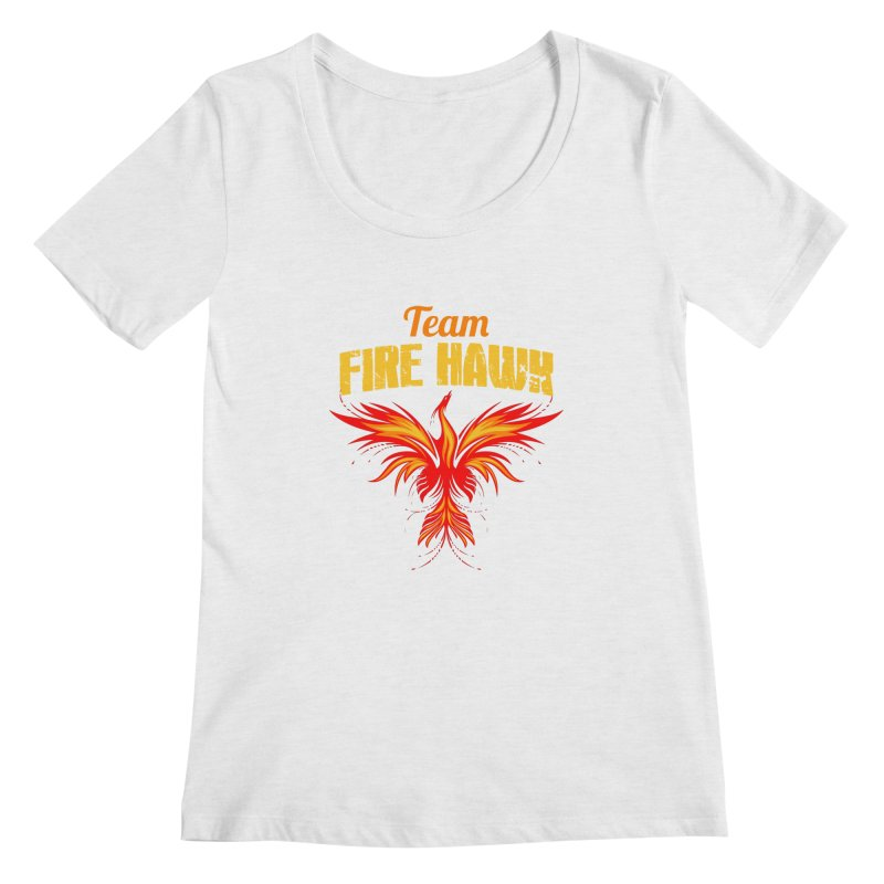 team fire hawk Women's Regular Scoop Neck by 8010az's Shop