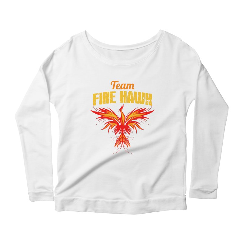 team fire hawk Women's Scoop Neck Longsleeve T-Shirt by 8010az's Shop