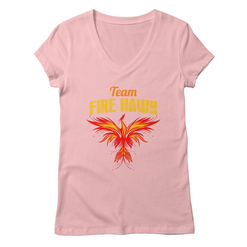 team fire hawk Women's Regular V-Neck by 8010az's Shop