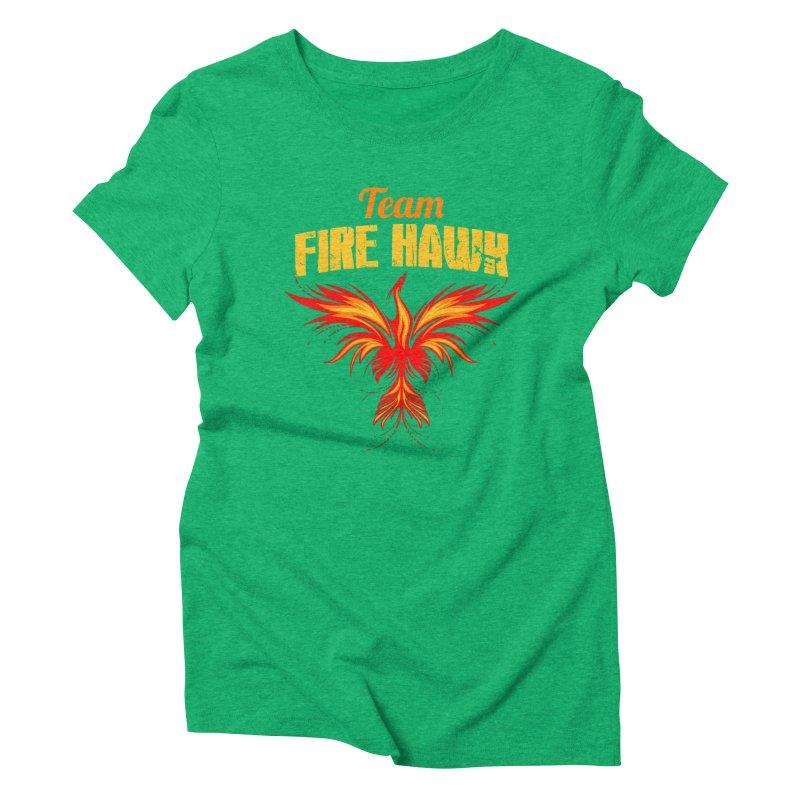 team fire hawk Women's Triblend T-Shirt by 8010az's Shop