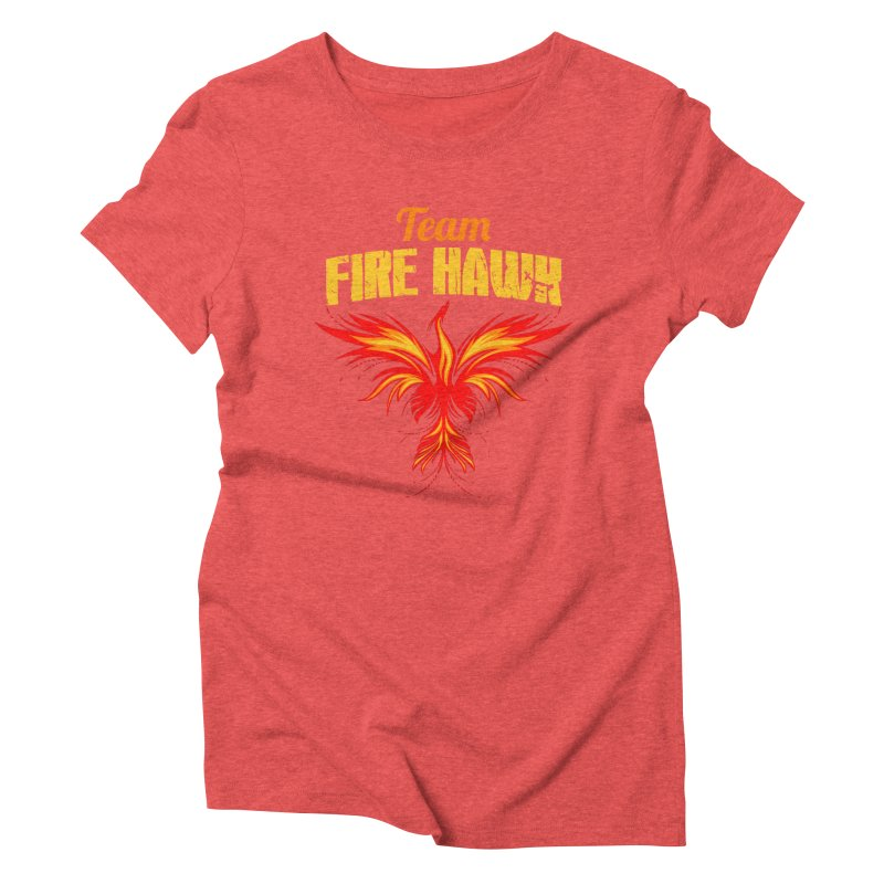 team fire hawk Women's Triblend T-Shirt by 8010az's Shop