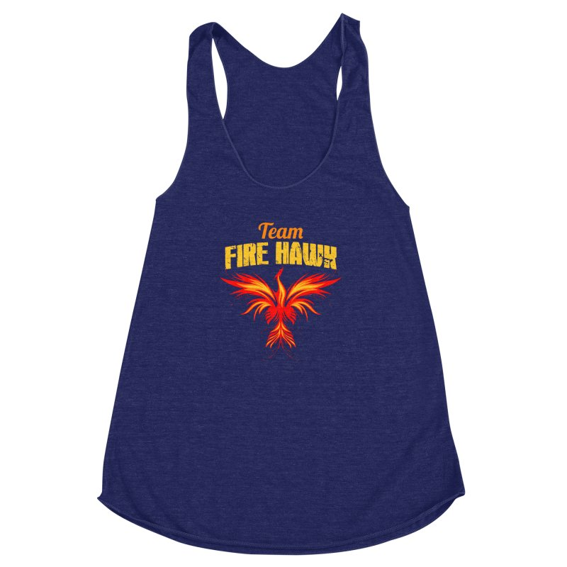 team fire hawk Women's Racerback Triblend Tank by 8010az's Shop