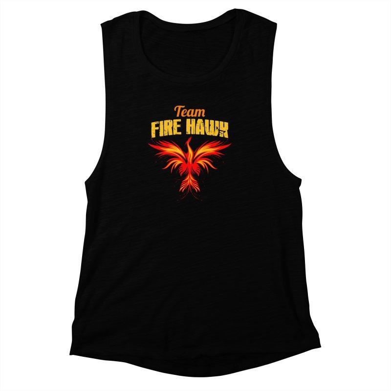 team fire hawk Women's Muscle Tank by 8010az's Shop