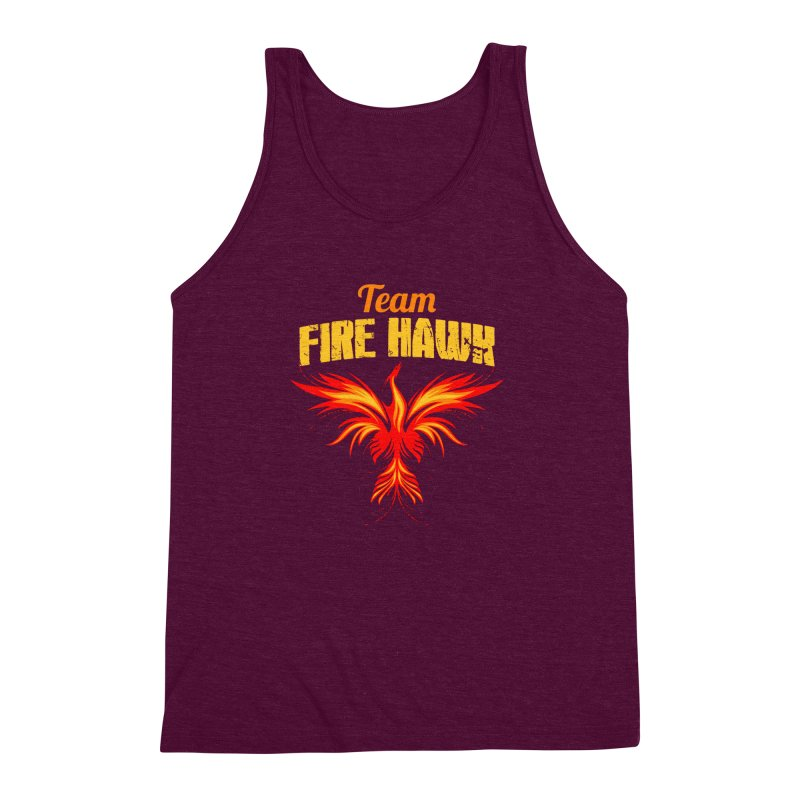 team fire hawk Men's Triblend Tank by 8010az's Shop