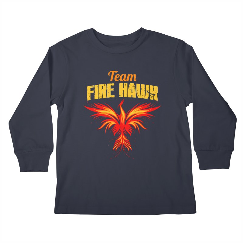 team fire hawk Kids Longsleeve T-Shirt by 8010az's Shop