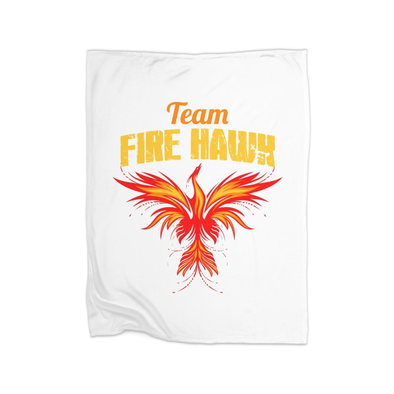 team fire hawk Home Fleece Blanket Blanket by 8010az's Shop