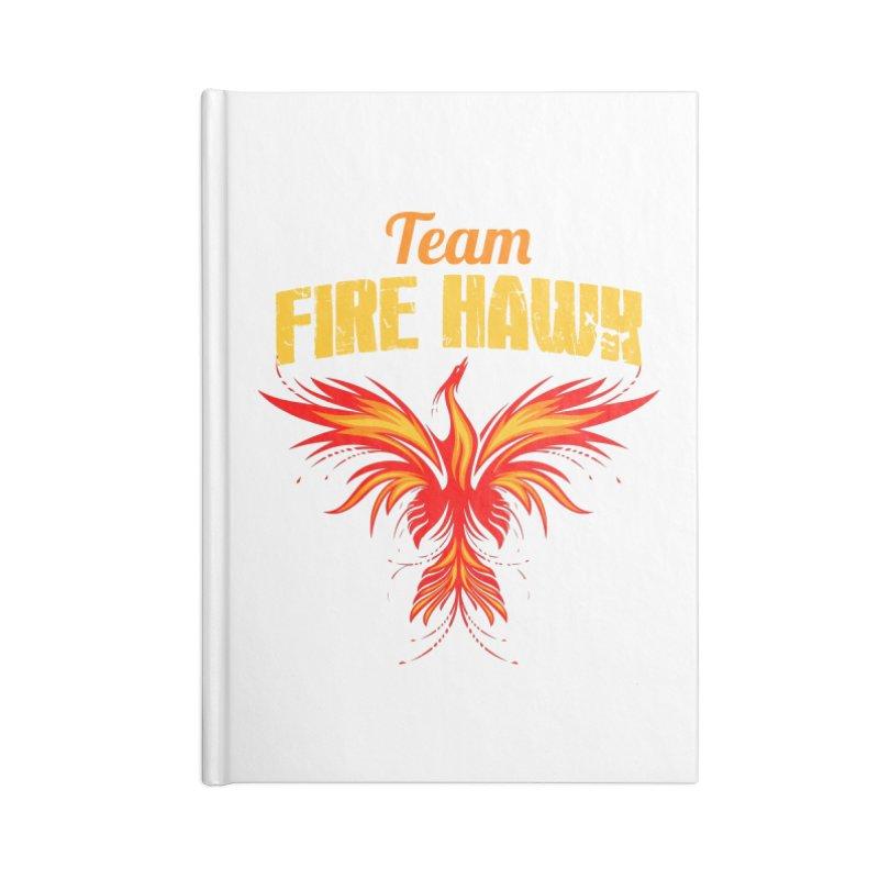 team fire hawk Accessories Notebook by 8010az's Shop