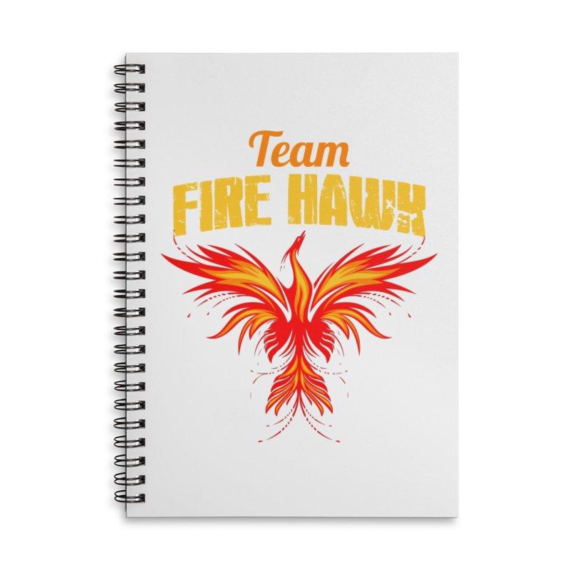 team fire hawk Accessories Lined Spiral Notebook by 8010az's Shop