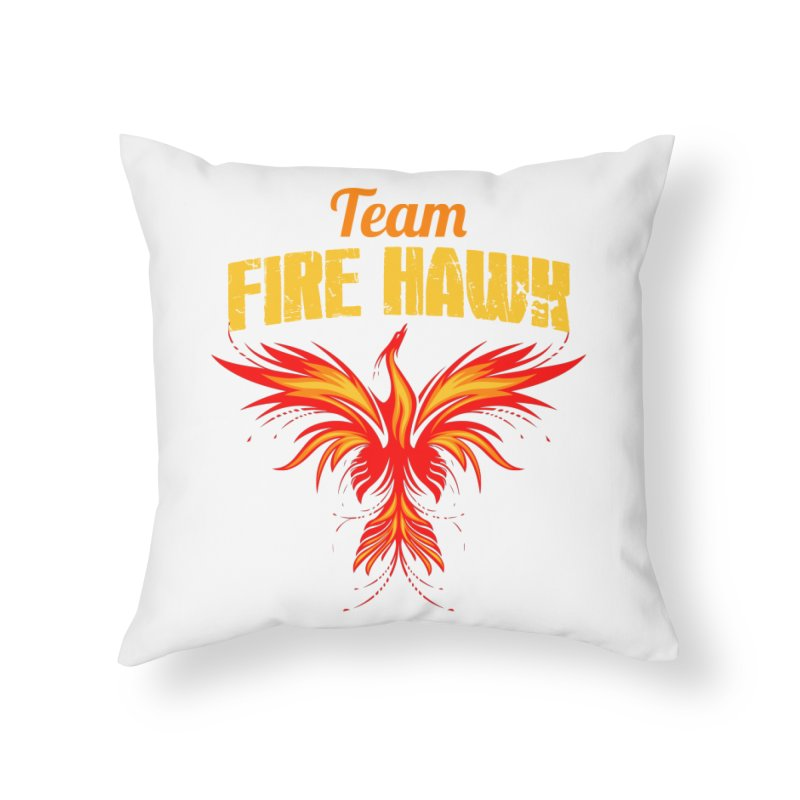 team fire hawk Home Throw Pillow by 8010az's Shop